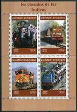 Madagascar 2019 MNH Indian Railways Railroads 4v M/S Trains Rail Stamps