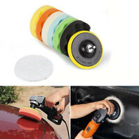 "9 x 4"" Sponge Polishing Waxing Waffle Buffing Pads Kit Set Compound For Auto Car"