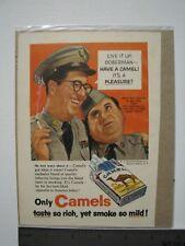 Camel Cigarettes Vintage Advertisement, Phil Silvers, Bilko, Doberman, color