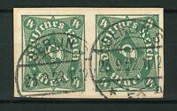 Deutsches Reich Mi-Nr. 226aU - ungezähntes Paar gestempelt