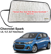 Side Window Rear Seat Sunshades Custom Fit for 2016-2020 Chevrolet Spark (2 pcs)