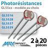 Photorésistance 5mm - 4 valeurs au choix - Lots multiples, prix dégressif