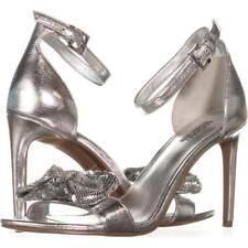 Michael Kors Paris Dress Sandals 602 Silver 6.5 US / 36.5 EU