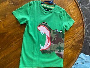 Mini Boden boys green hippo T-shirt 6-7