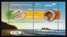 Costa Rica UPAEP Comidas Típicas,Typical Meals,Ceviche, Rice and Beans, MNH 2019