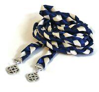 Navy Ivory Silver Celtic Knot Wedding Handfasting Cord  #Wedding #Celtic