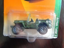 JEEP WILLYS MILITARY MATCHBOX JUNGLE EXPLORERS 1/64 NEW IN USED PACKAGE 2009