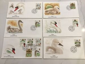 GB Stamps Fleetwood FDC Swans set 1993
