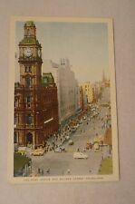 Melbourne - The Post Office and Bourke St -Vic -Collectable -Vintage -Postcard.
