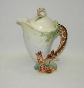 Franz Porcelain GIRAFFE SCULPTURED TEAPOT