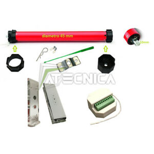 Kit automazione tapparelle motore tubolare Atecnica T 30N 60kg + centralina + TX
