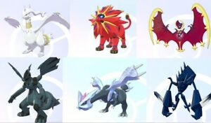 Shiny legendary bundle for Pokemon Sword and Shield + 6 Masterballs