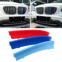 3PCS Clip Couverture Grille Calandre Bande M Couleur Sport Pour BMW X1 E84 10-15