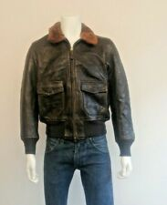 COCKPIT Type G -1  N.Y.C AIR FORCE Leather Bomber Jacket . Made in USA