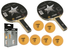 Stiga Draco 2 Rackets and 6 Stiga Cup Balls