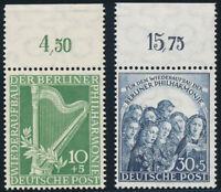 BERLIN 1950, MiNr. 72-73, Oberrand, tadellos postfrisch, Mi. 140,-