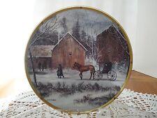 "Lenox Plain Folk Plate Collection ""Snowy Day"" by Al Koenig /Lenox"