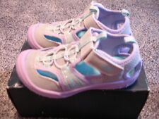 Oshkosh Toddler Girls Sporty Sandal Jax2-G Gray Purple 5 NEW