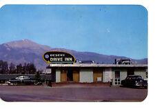 Desert Drive Inn Restaurant-Old Car-Colorado Springs-Vintage Adv Postcard