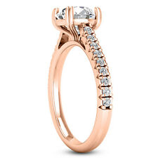 1.18 Carat SI2/F Round Cut Diamond Engagement Ring 14k Rose Gold
