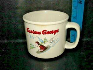 Vintage Curious George Monkey Cup Mug - Licensed by Universal Studios
