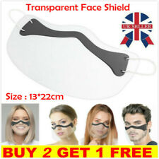 Mouth Face Shield Visor Face Visor Protection Mask PPE Mini Shield Transparent-M
