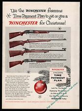 1955 WINCHESTER 50, 70, 47, 12 Rifle and Shotgun for Christmas AD