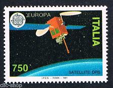 ITALIA UN FRANCOBOLLO EUROPA CEPT SATELLITE DRS 1991 nuovo**