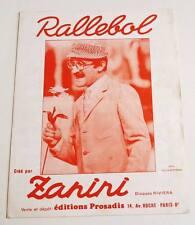 Partition vintage sheet music ZANINI : Ras le Bol * 60's
