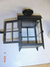Vintage Black Metal Decorative Candle Lantern Candle Holder WITH CANDLE