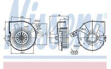 NISSENS Ventilador habitáculo Para SEAT IBIZA CORDOBA VW POLO 87028