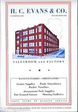 25 H.C. Evans 1932 Secret Blue Book 1978 Reprint Catalogs-Slots & Gambling Items