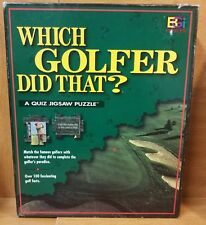 Buffalo WHICH GOLFER DID THAT? Test of Puzzle Skills & Knowledge, Excellent