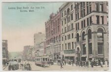 USA postcard - Looking down Pacific Avenue from 11th, Tacoma, Wash - P/U (A189)