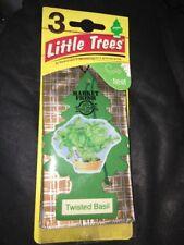 3 packs Little Tree hanging car air fresheners - Twisted Basil