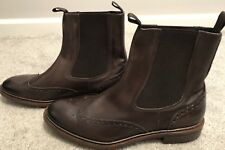 BROOKS BROTHERS BROWN WINGTIP LUG SOLE CHELSEA BOOT SIZE 13 NEW