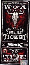 Wacken 2011 - Altes Konzert-Ticket 3 Days All In Ticket - # 01974 limited X-Mas