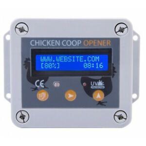 Hühnerklappe- automatische Hühnertür elekt.Geflügeltür Klappensteller Hühner