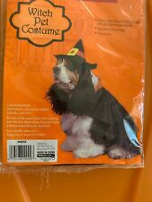 NIP Witch Wizard of Oz Halloween Dog Costume NEW Fits Most Dogs Adjustable NEW