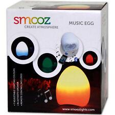 SMOOZ MUSIC EGG - Bluetooth Lautsprecher LED Tischleuchte Farbwechsel Leuchte