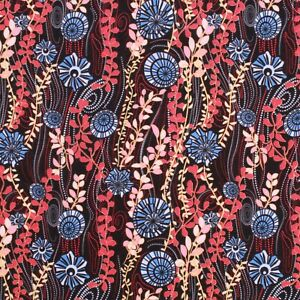"""100% Cotton Lawn, Vintage Funky Floral, Summer, Spring, High Quality 58"""""""
