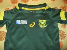 Ancien MAILLOT ASICS SOUTH AFRICA SA RUGBY 4ans? IRB World Cup 2015 XV Shirt