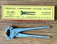 "Crescent Carpenters Cutting Pincers End Cutting Pliers 6"" Vintage Zinc 282 USA"