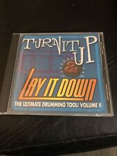 Turn It Up and Lay It Down, Vol. 2(Ultimate Drumming Tool)-Cd-Vg-Free shipping