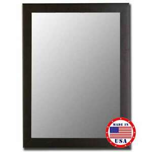 "Hitchcock Butterfield 42"" X 54"" Satin Black Framed Wall Mirror - 630904"