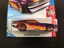 2019 Hot Wheels - HW Flames 8 / 10 - '71 Mustang Funny Car - #57/250 Purple