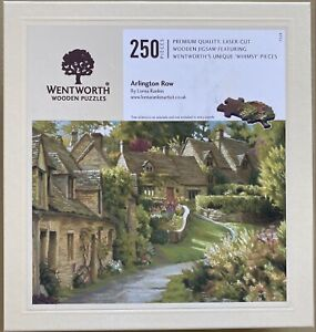 """WENTWORTH """"Arlington Row"""" - 250 piece Wooden JIGSAW PUZZLE (Whimsy)"""