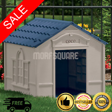 New listing Xl Dog Kennel For Large Dogs Outdoor Pet Insulated Cabin House Big Shelter