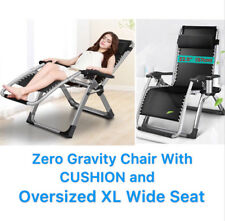 """FOUR SEASONS (WITH CUSHION) Extra Wide Seat (22.5"""") Zero Gravity Chair Recliner"""