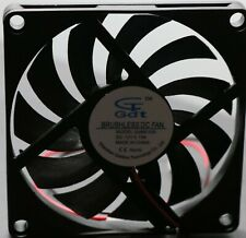 GDT Brushless DC Cooling Fan 8010S 12V .15A 2 Wires (Qty 10)